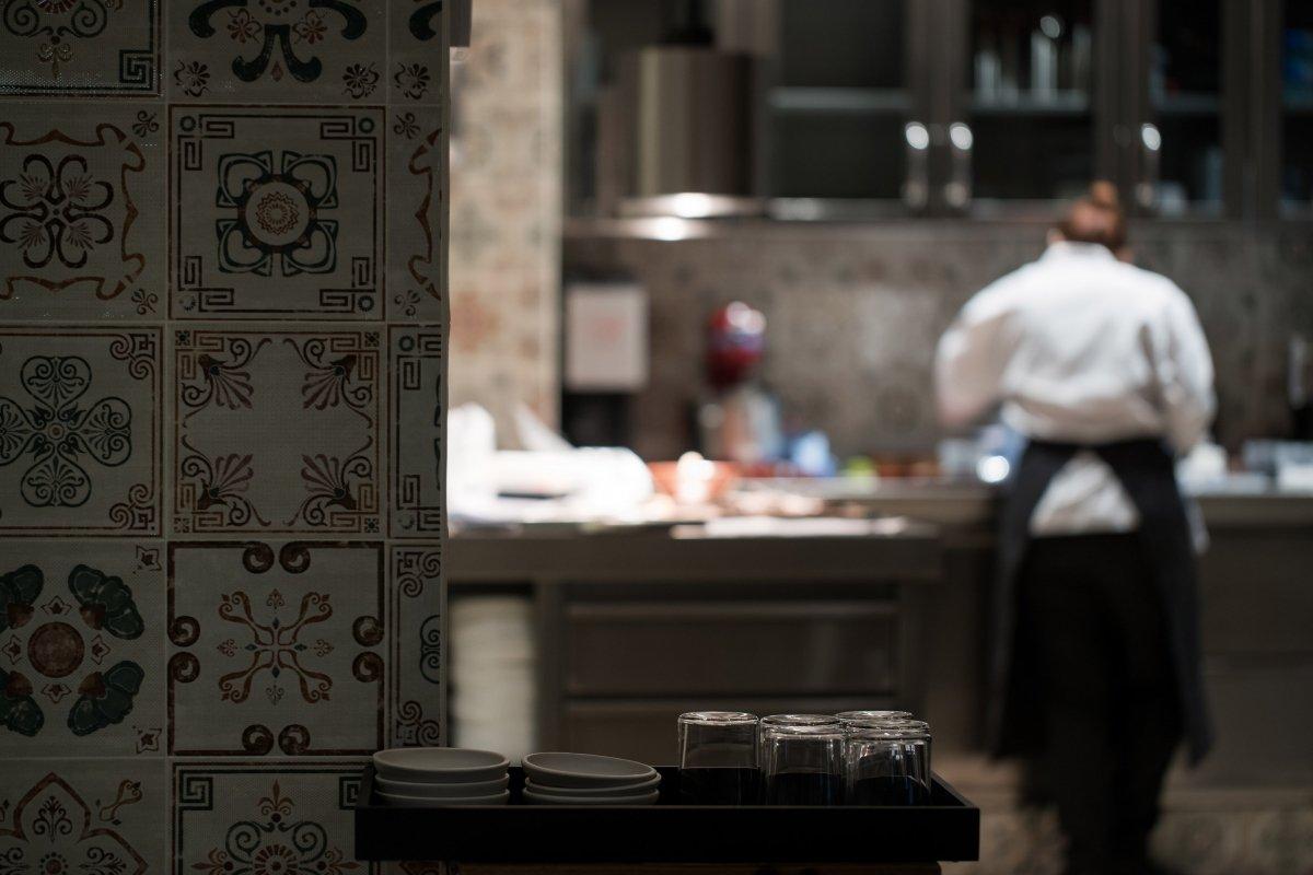 Detalle de la cocina del restaurante Amelia
