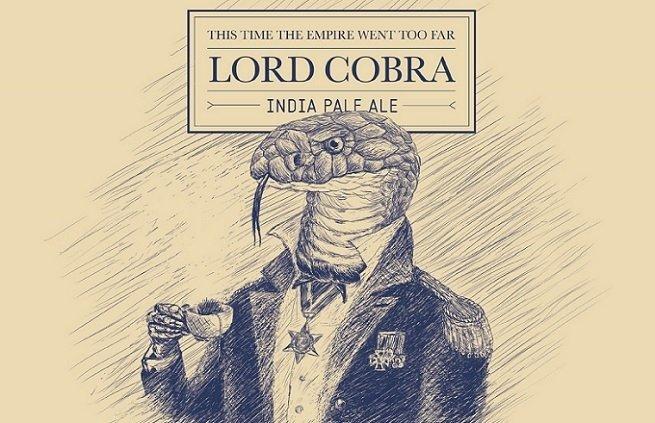 Detalle de la etiqueta de Lord Cobra IPA