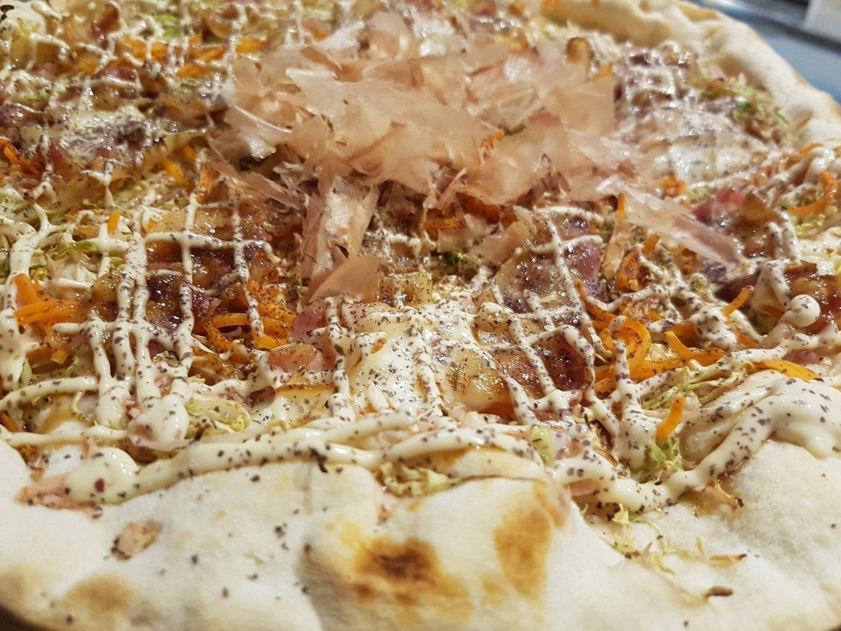 Detalle de la pizza Japón de Padrino de Gijón