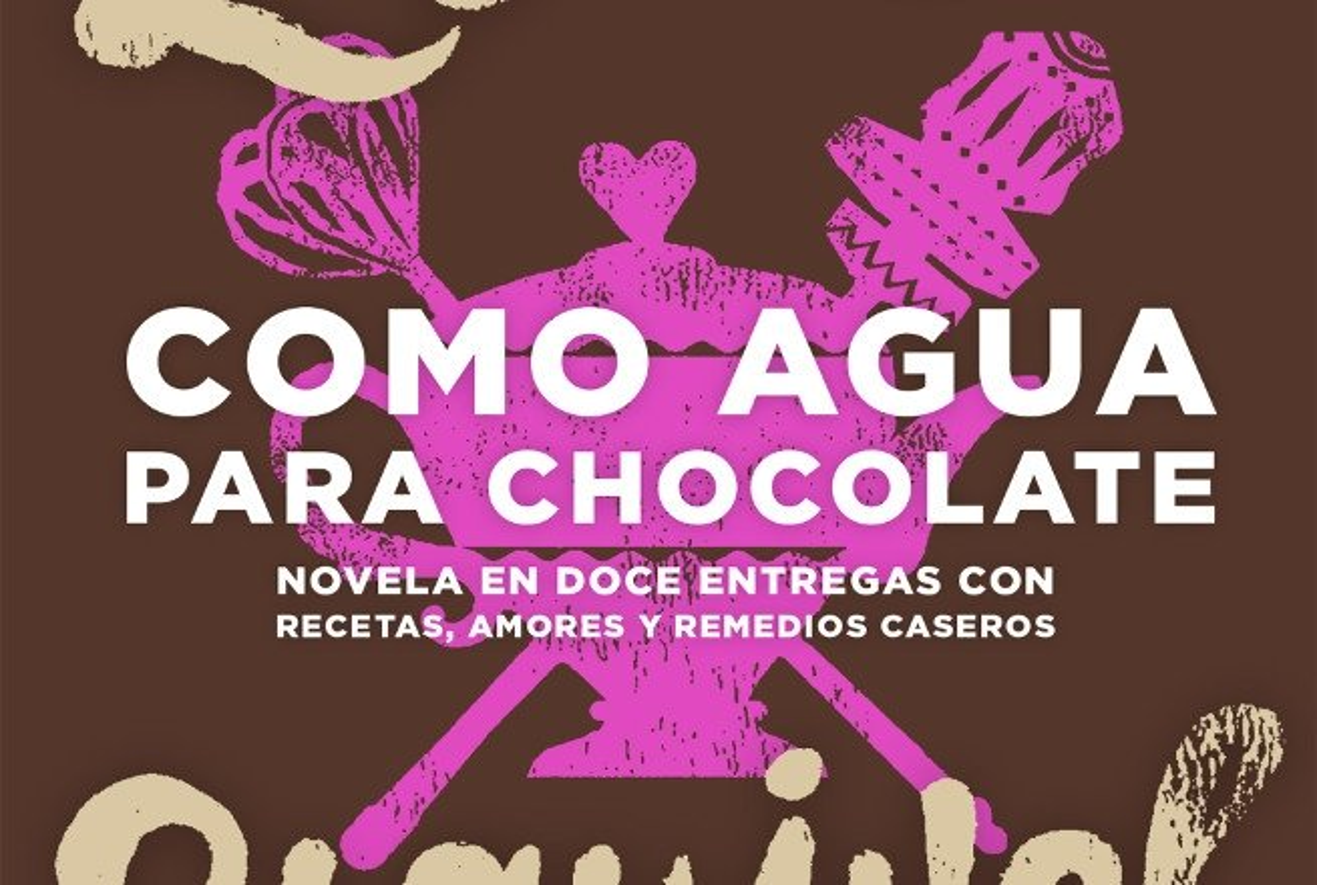 Detalle de la portada de Como agua para chocolate