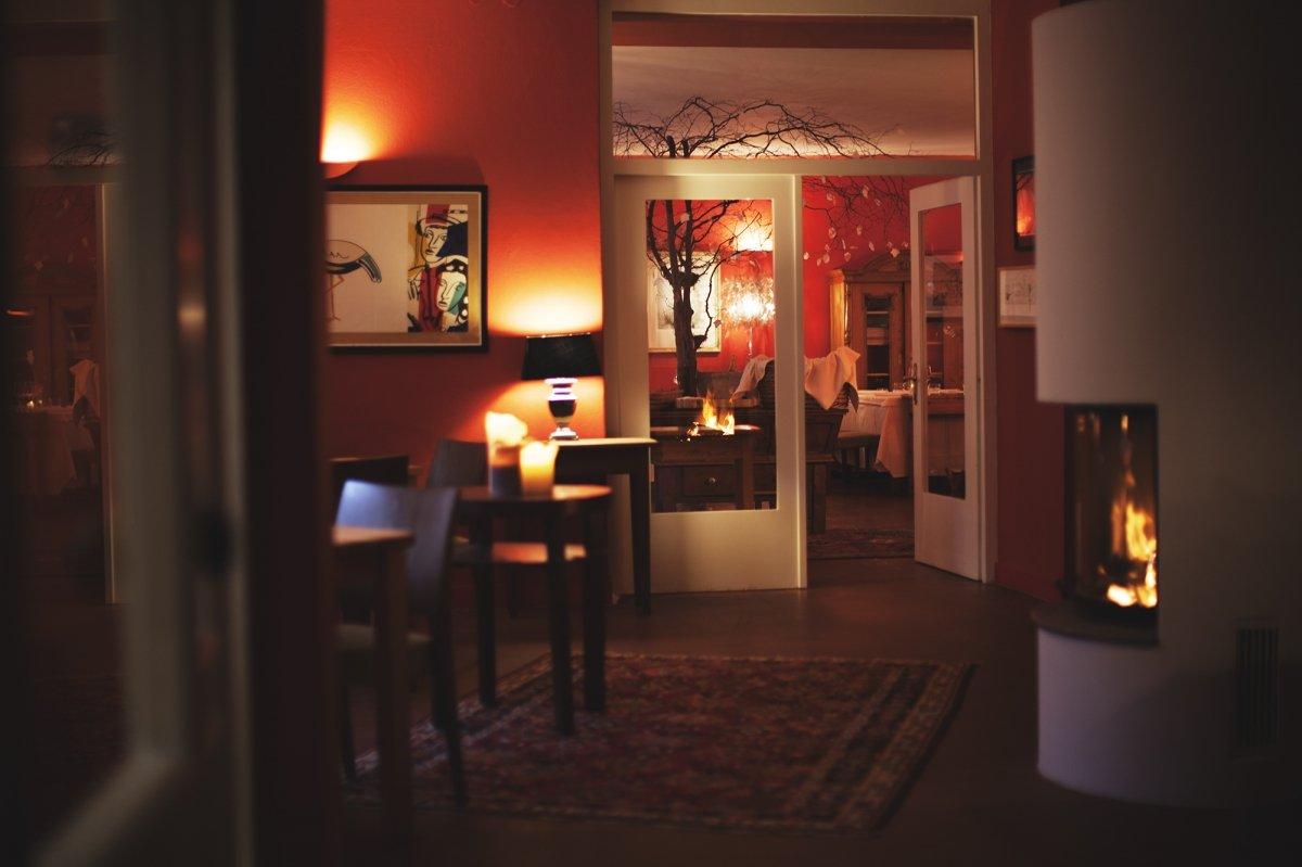 Detalle de la sala del restaurante Hisa Franko