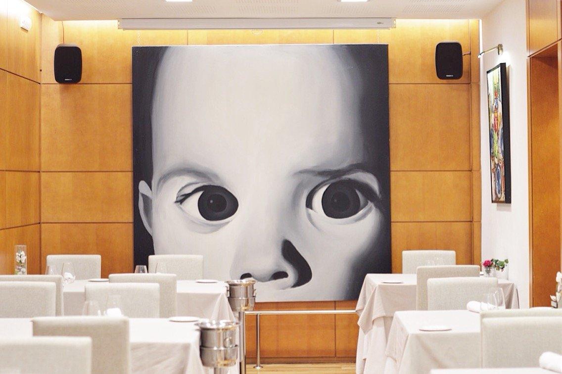 Detalle de una de las salas del restaurante Casa Antonio de Jaén