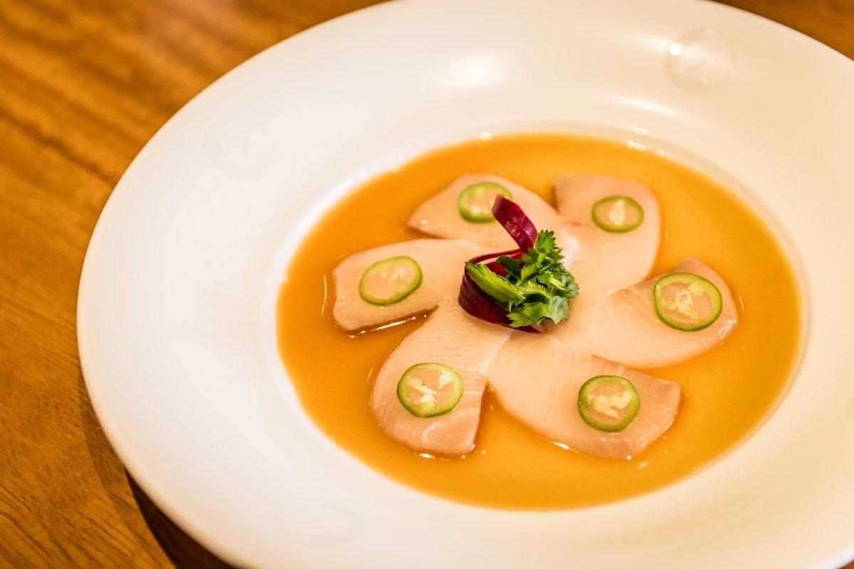 Detalle de una elaboración de Nobuyuki Matsuhisa del restaurante Nobu