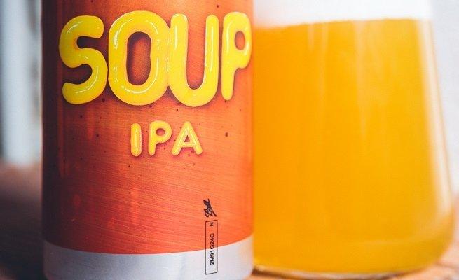Detalle de una lata de Soup IPA