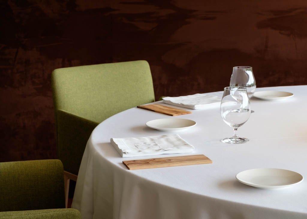 Detalle de una mesa del restaurante Casa Solla