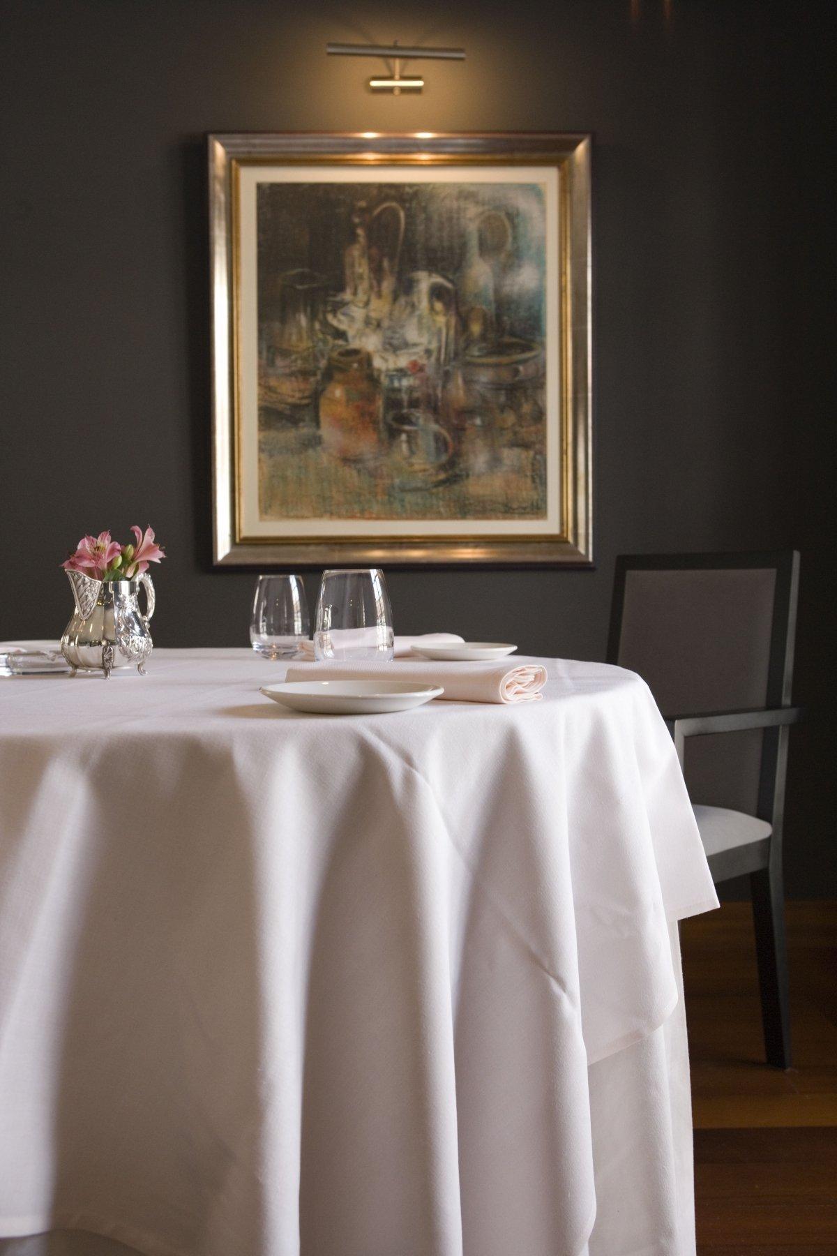 Detalle de una mesa en el restaurante Yayo Daporta