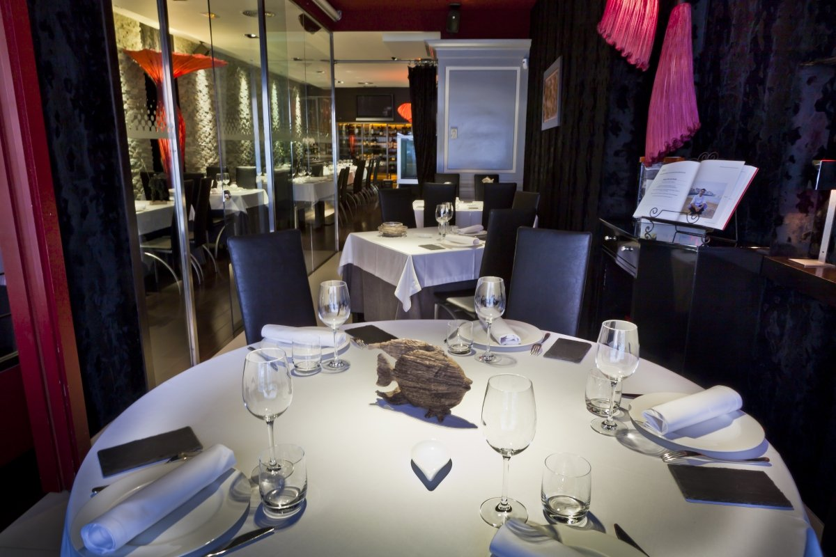 Detalle de una sala del comedor del restaurante Zarate