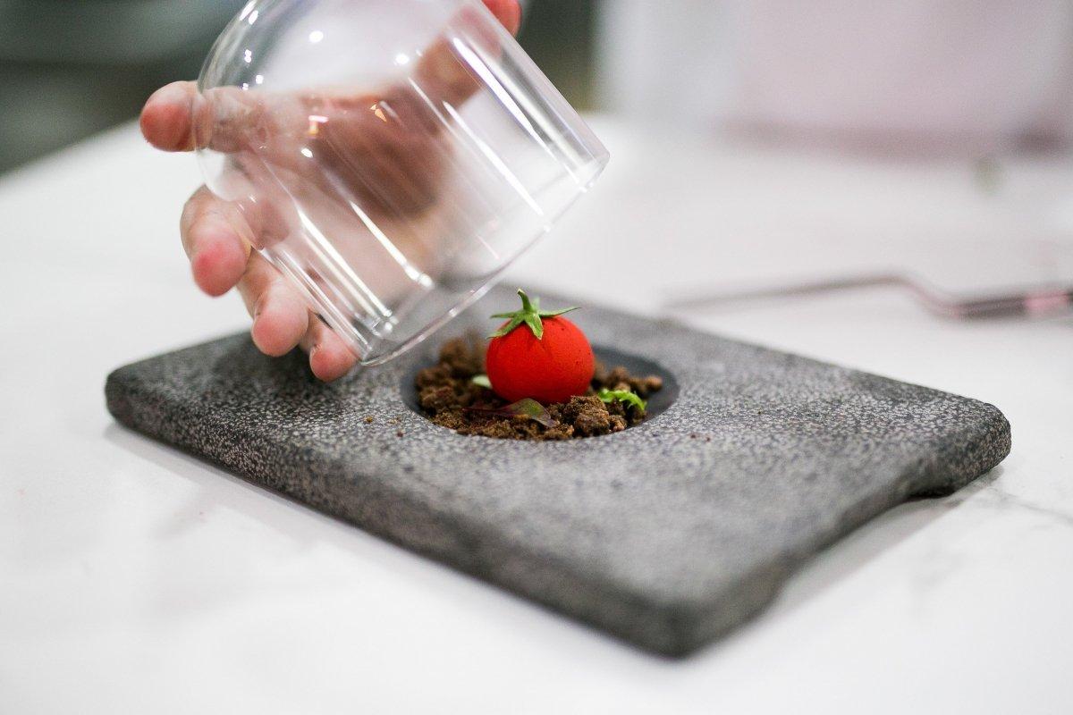 Dulce tomate de El Ejido en el restaurante La Costa