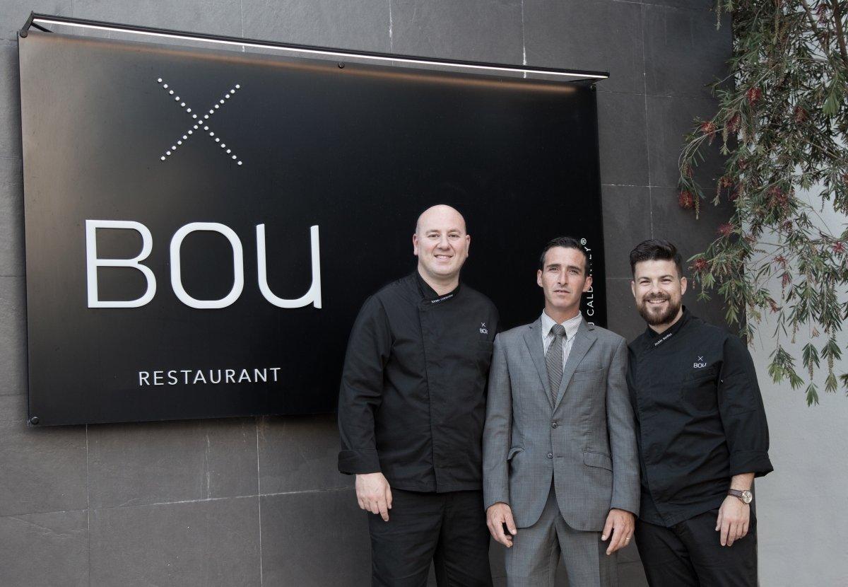 El equipo al frente de Bou Restaurant