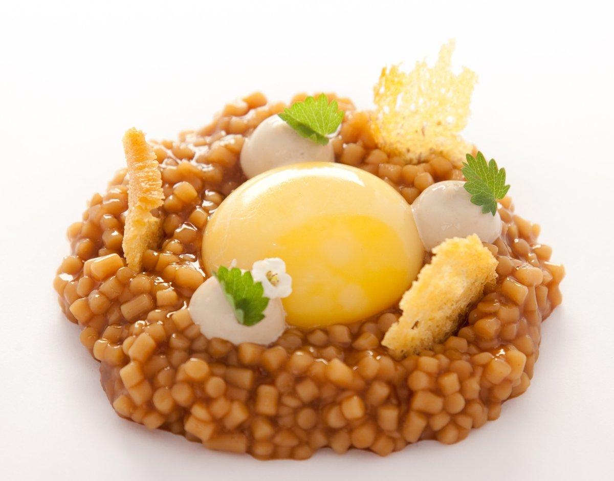 El huevo de caserío de Eneko Larrabetzu