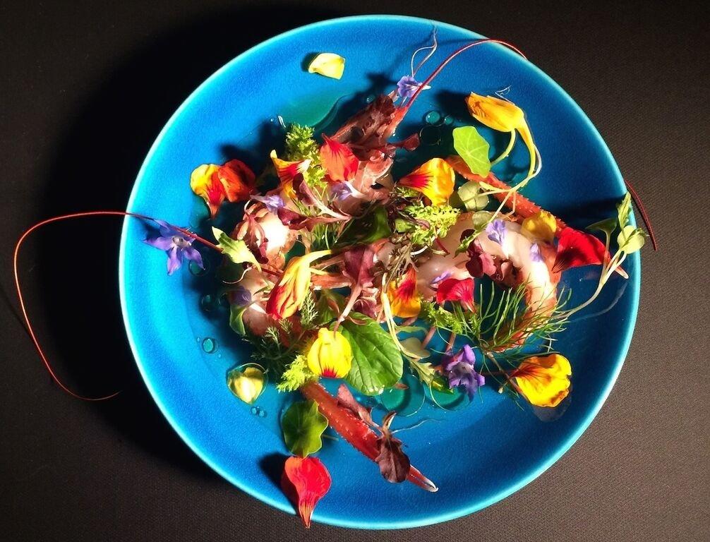 El plato Aroma de jardín del restaurante Narisawa