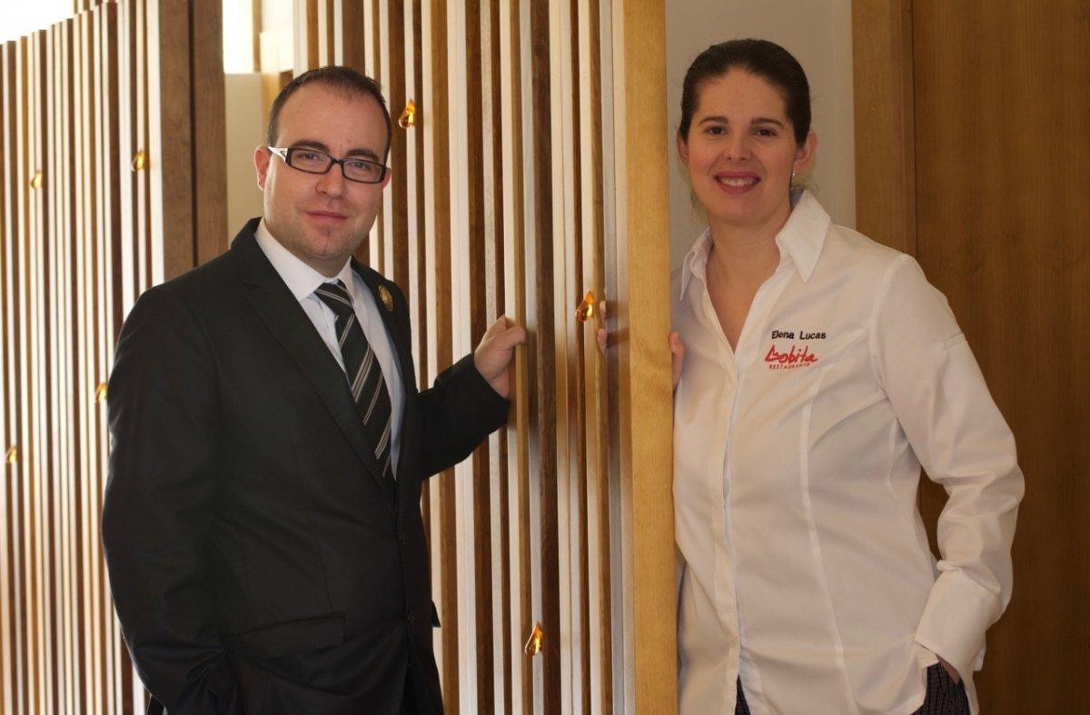 Elena Lucas y Diego Muñoz del restaurante La Lobita