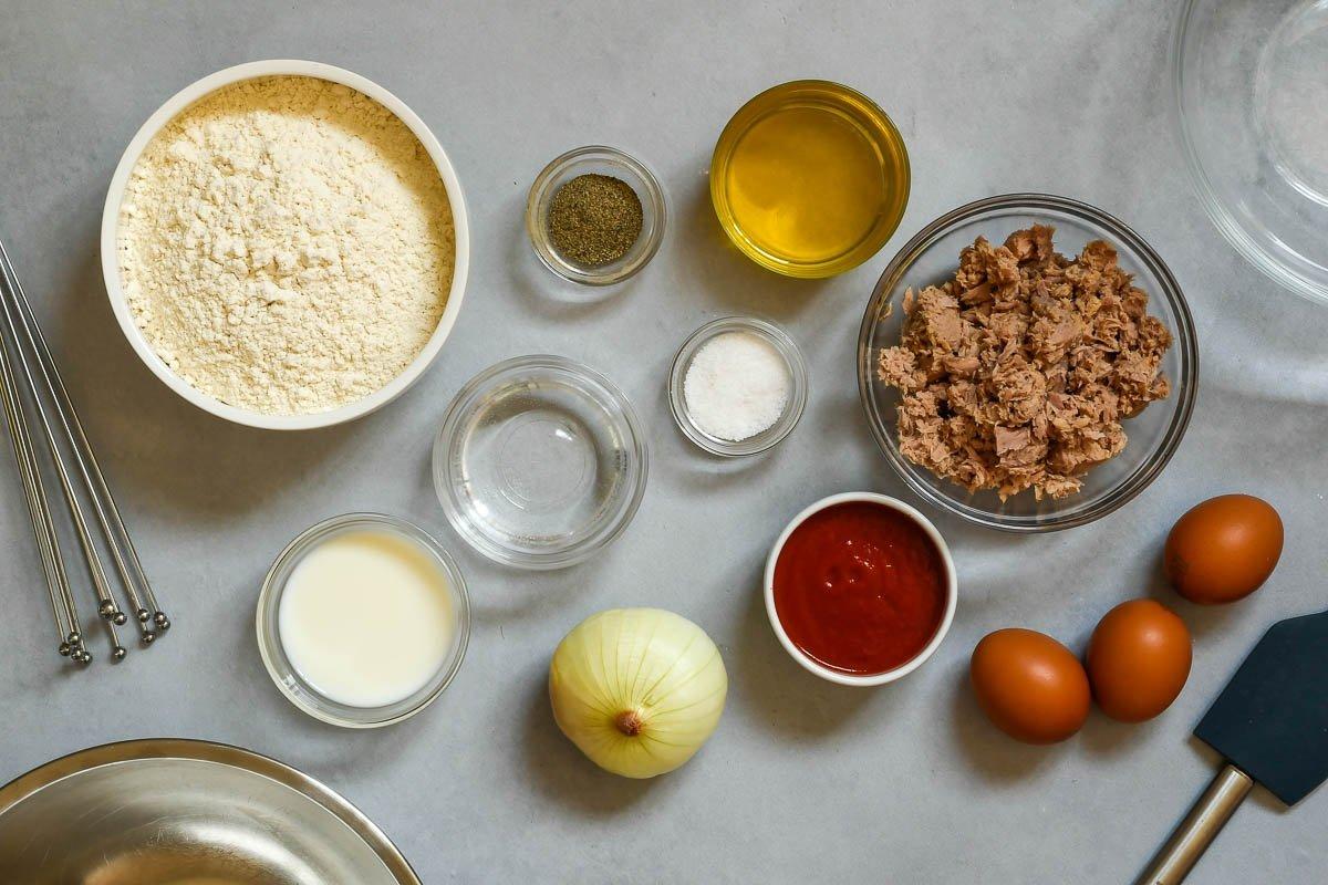 Empanadillas caseras de atún, tomate y huevo duro: ingredientes