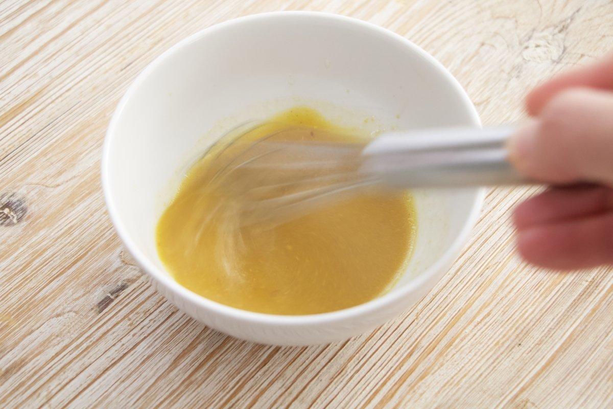 Emulsionar para obtener la vinagreta