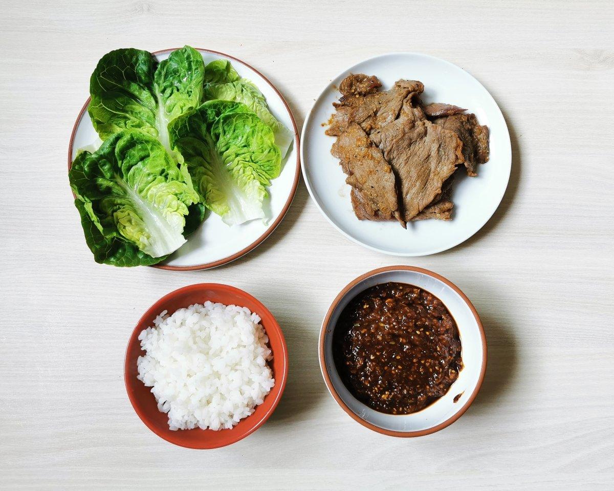Ssam de bulgogi coreano