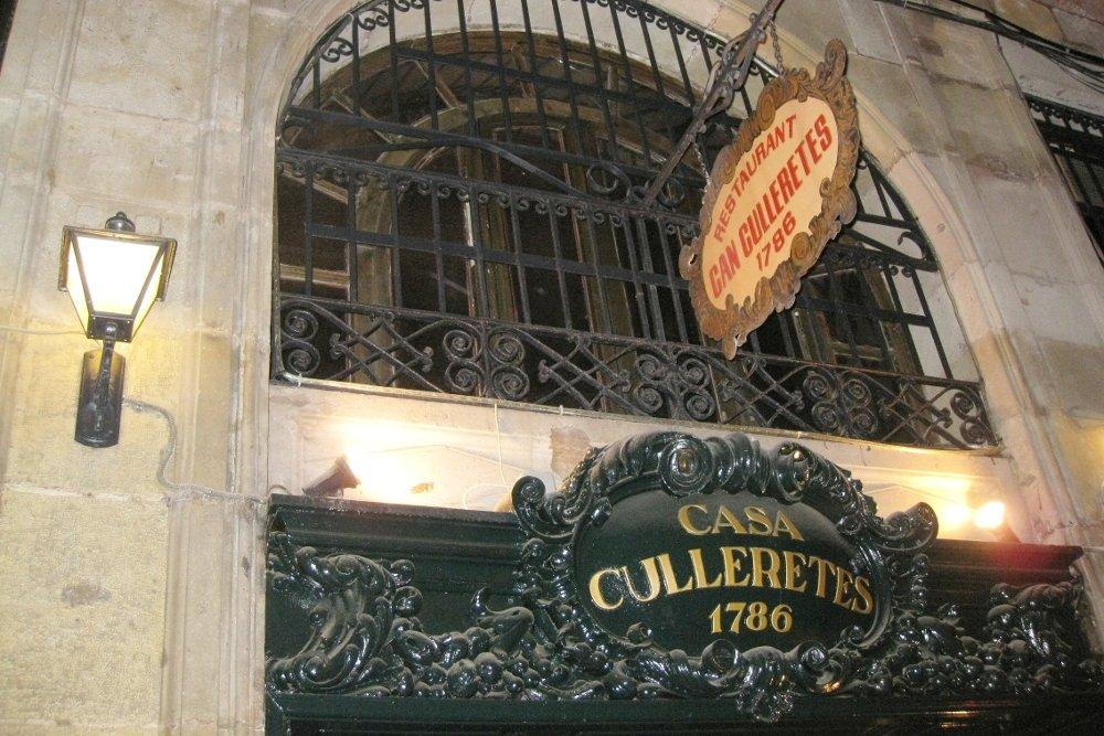 Entrada de Can Culleretes, el restaurante más antiguo de Barcelona