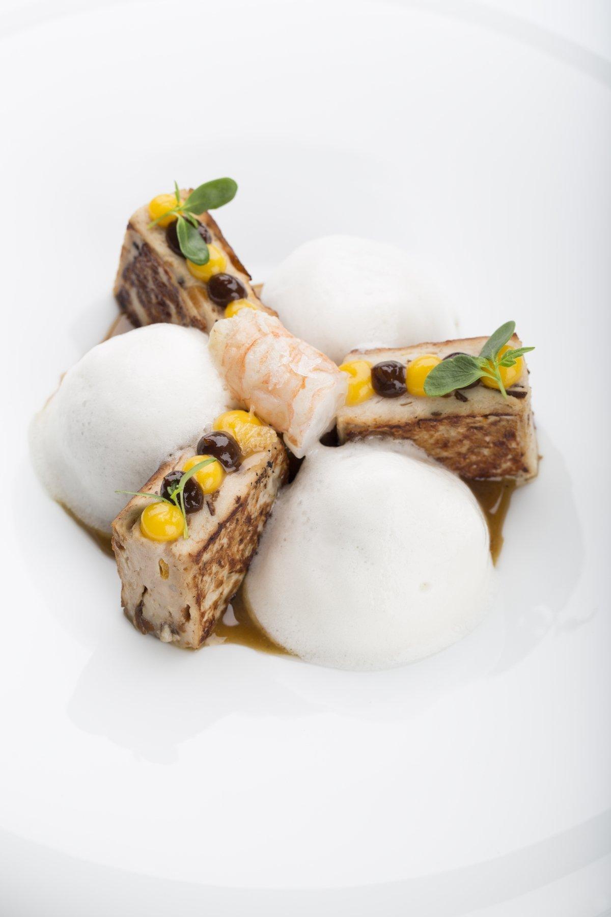 Escaldums, plato de mar y tierra del restaurante Argos