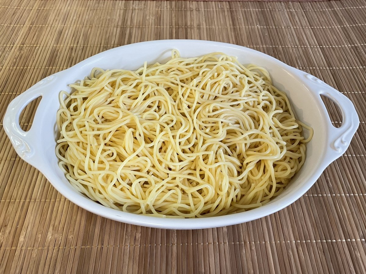 Espaguetis hervidos