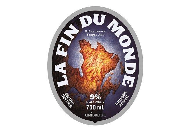 Etiqueta de cerveza La Fin du Monde