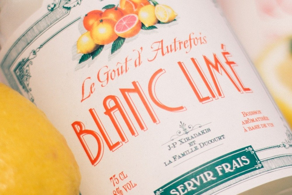 Etiqueta del vino Blanc Limé