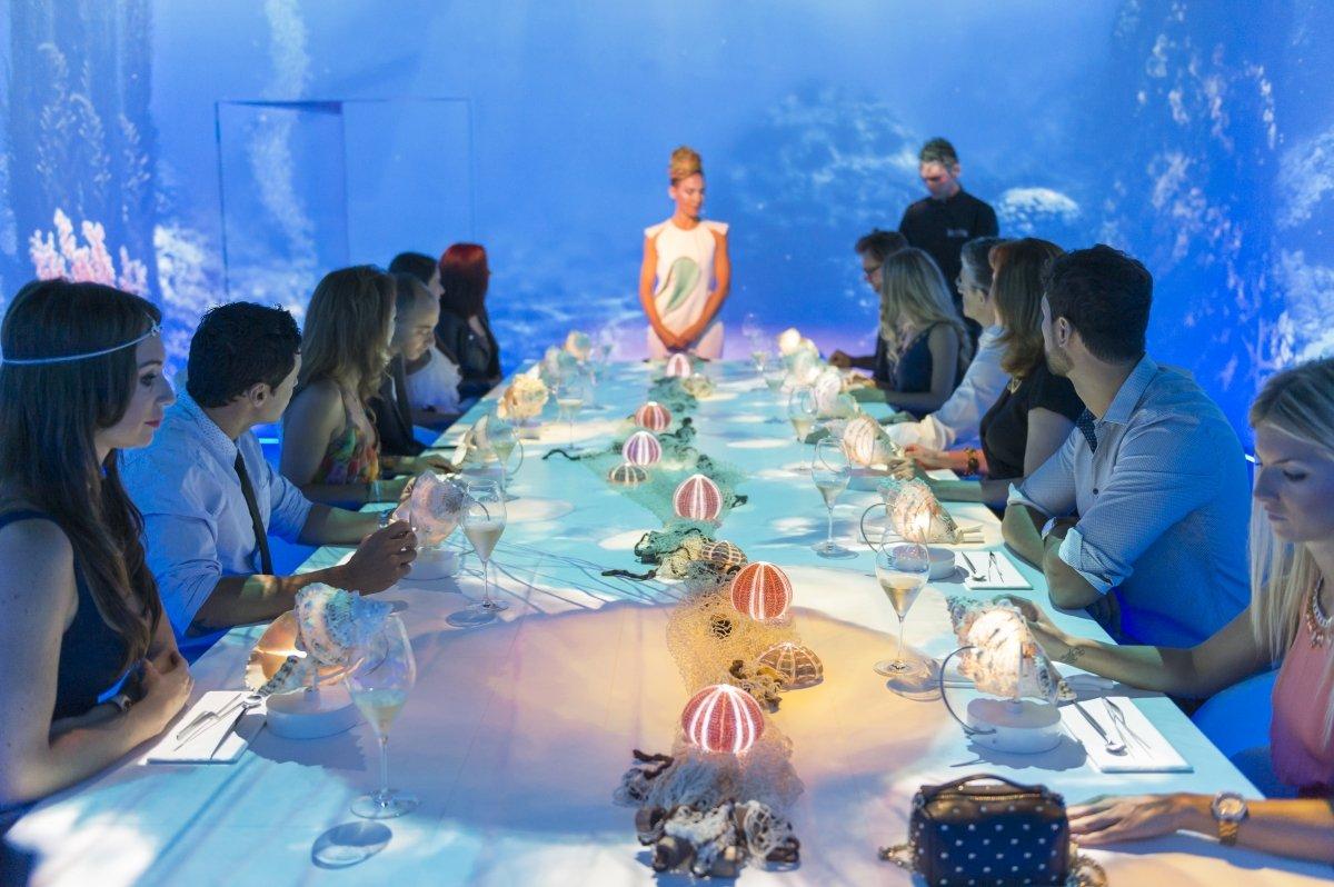 Experiencia de Sublimotion relacionada con la degustación de un plato de mar