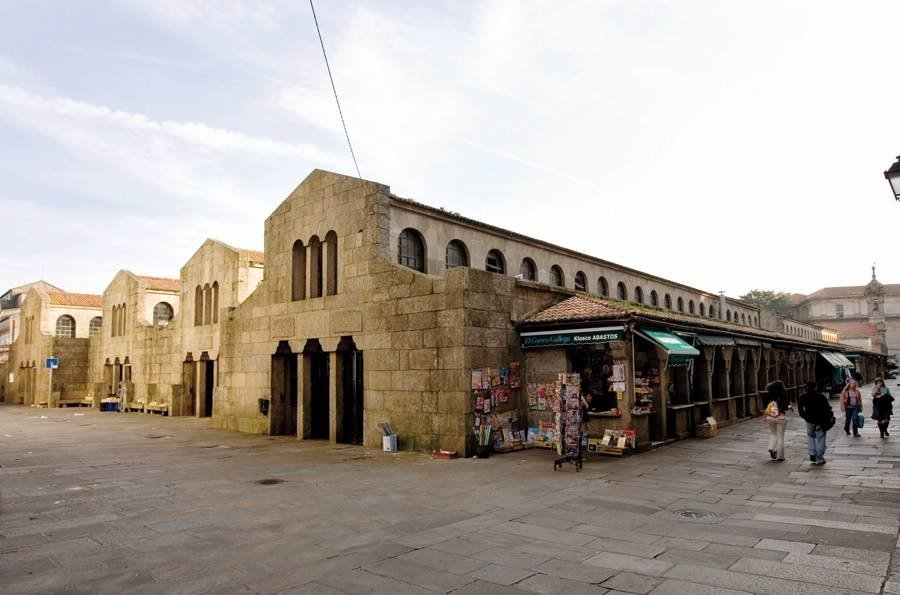 Exterior del Mercado de Abastos de Santiago de Compostela