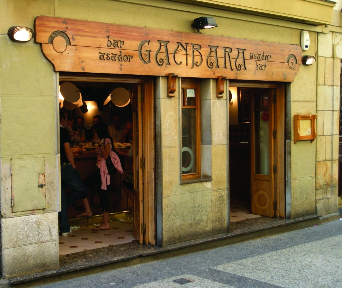 Fachada del restaurante Ganbara