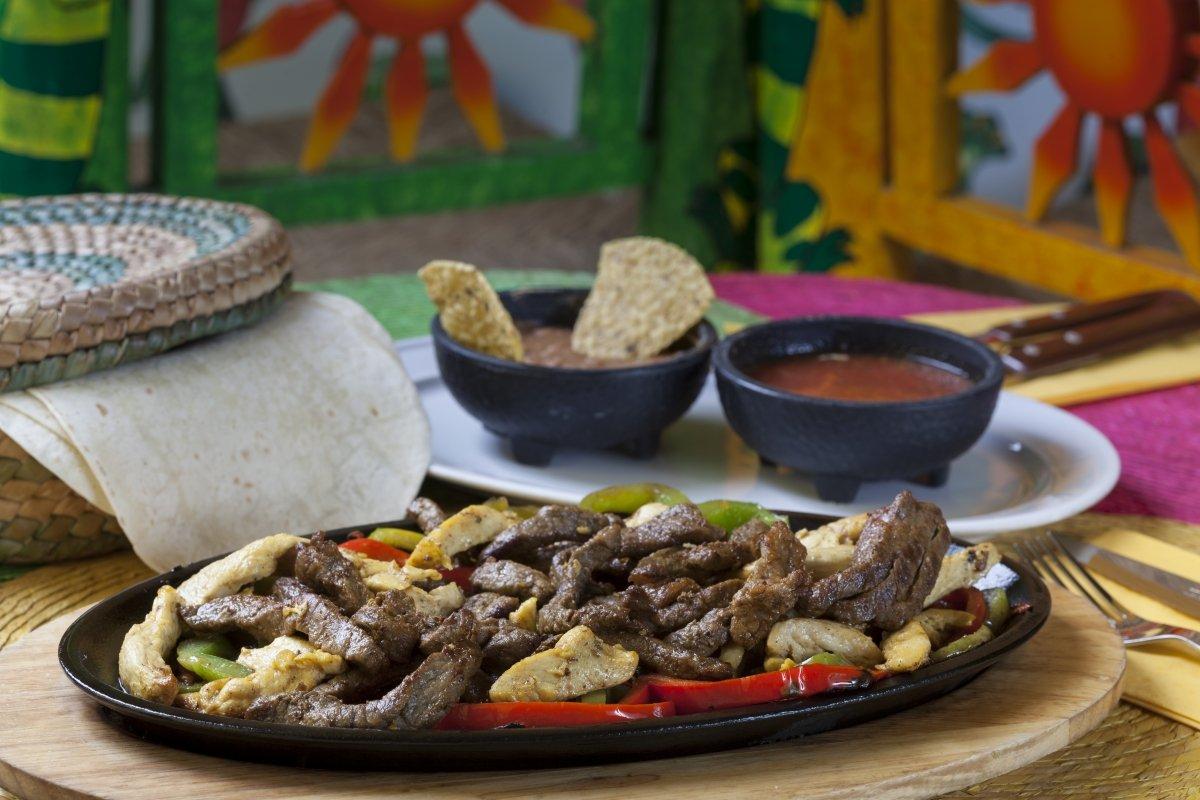 Fajita de ternera del restaurante Iguanas Ranas