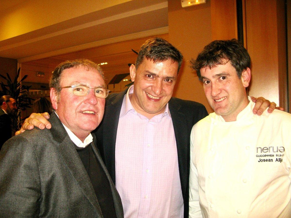 Federico Regalado con Josean Alija y Rafael García Santos