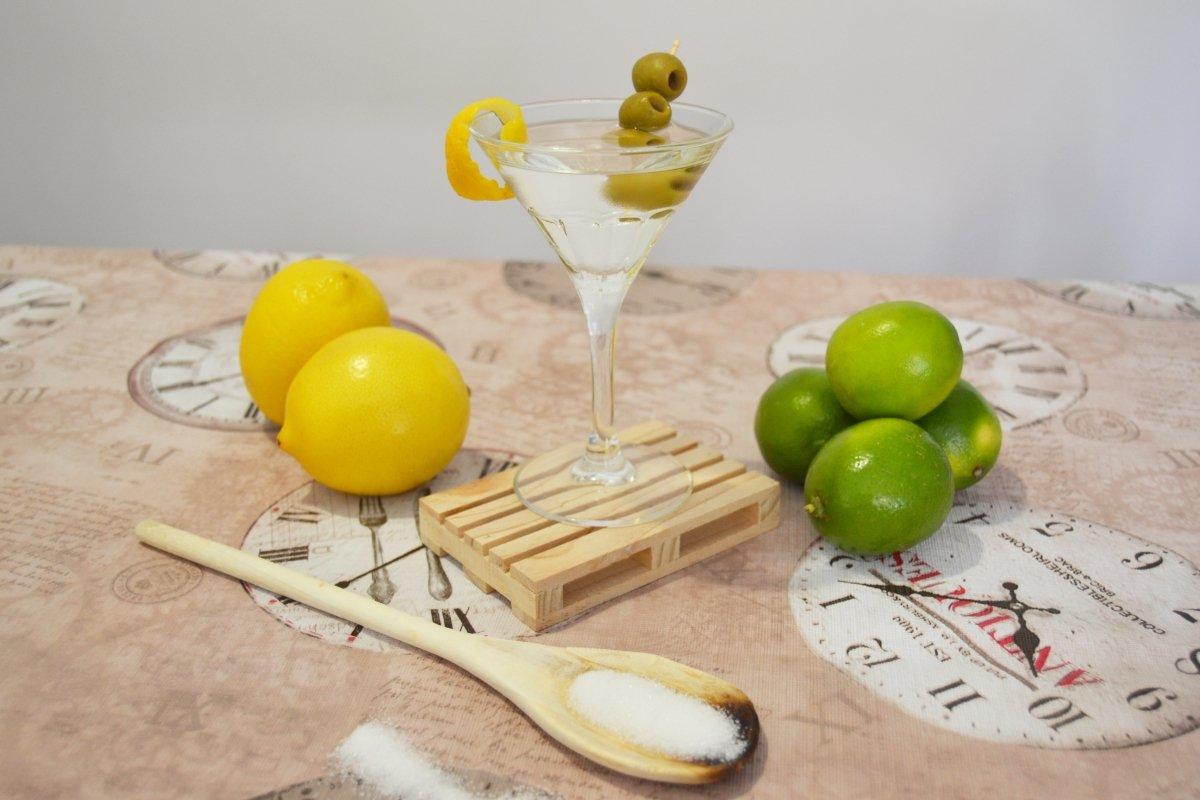 Foto acabado del dry martini