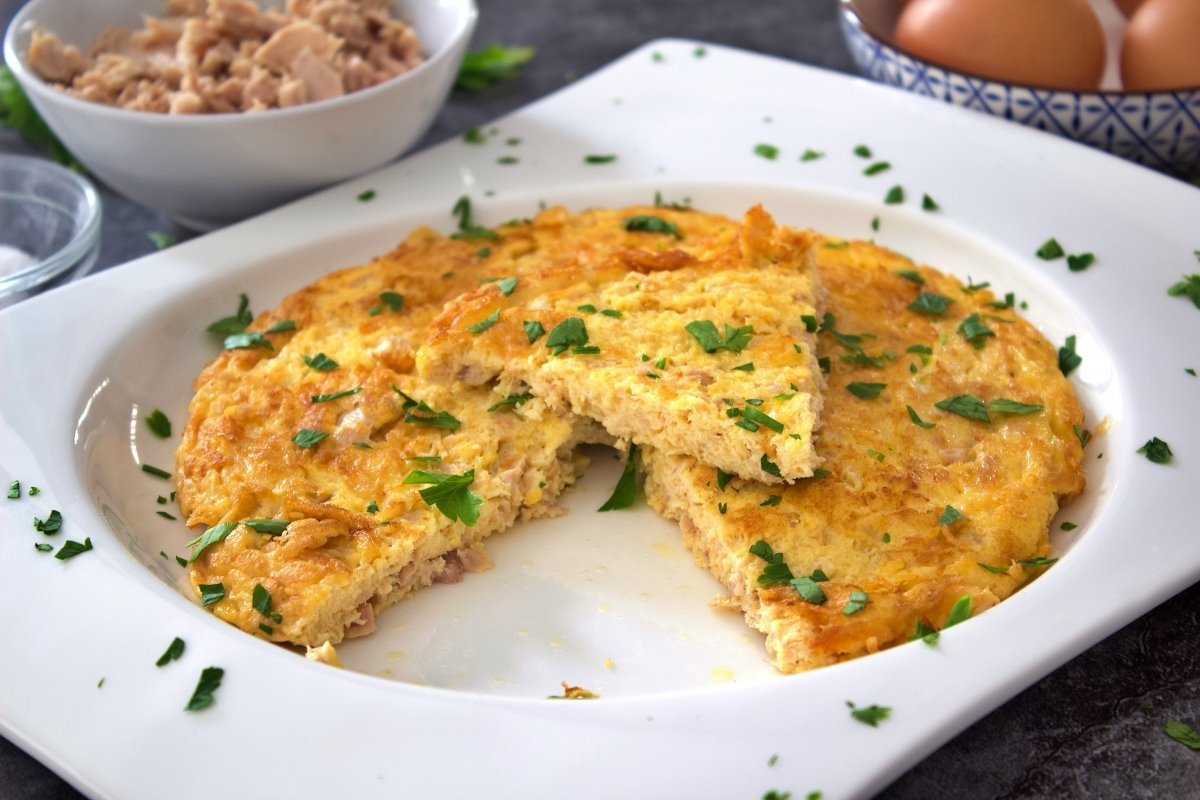 Foto de la portada de la tortilla de atún