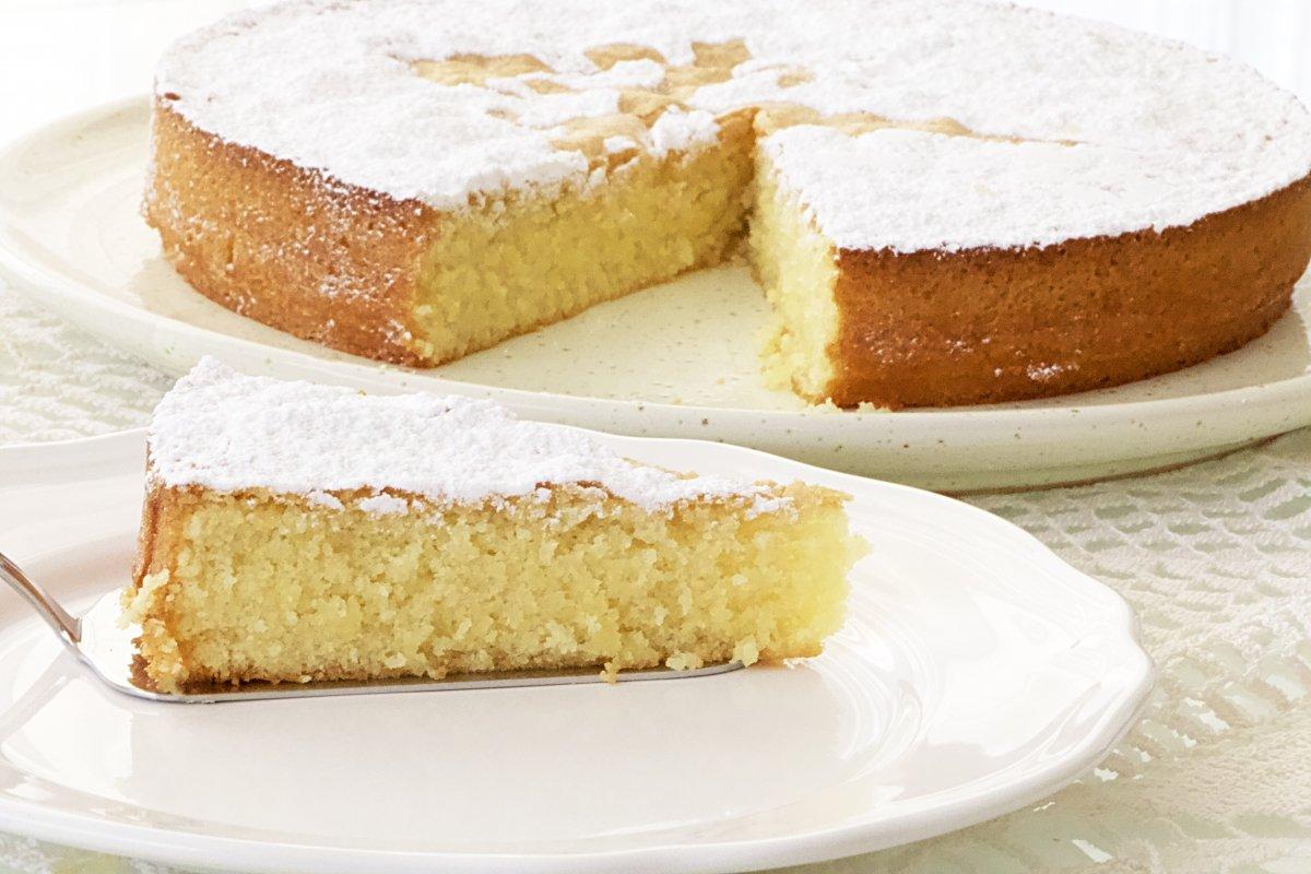 Foto de la tarta de Santiago