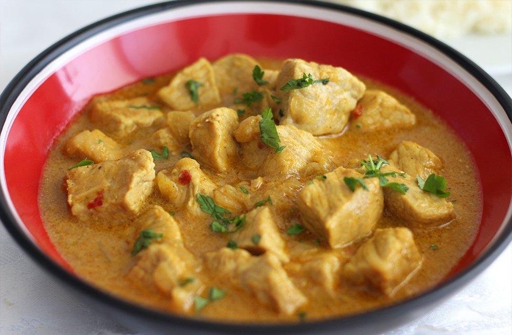 Lomo de cerdo al curry