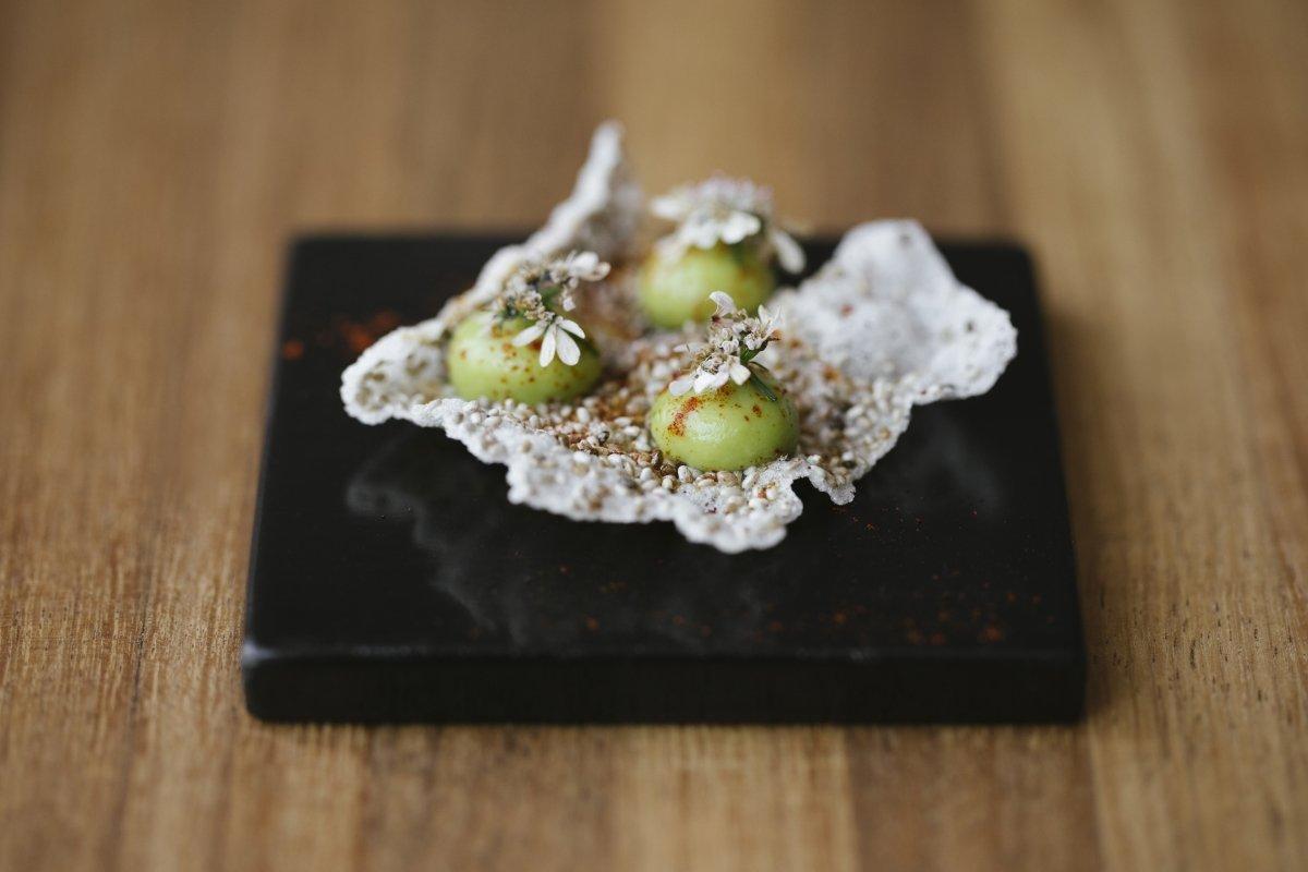 Fotografía de un plato del menú del restaurante Pujol