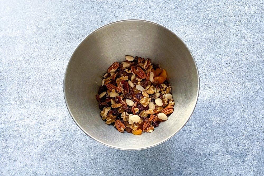 Frutos secos para elaborar Christmas pudding