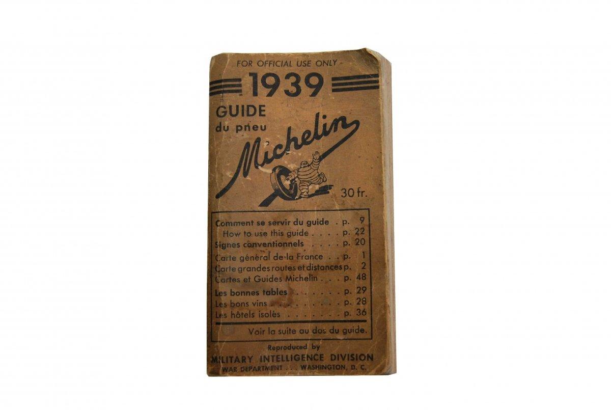 Guía Michelin de Francia 1939 utilizada en el desembarco de Normandía