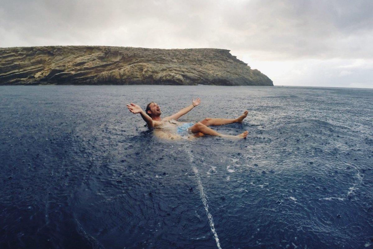 Guille Lagardera en el mar