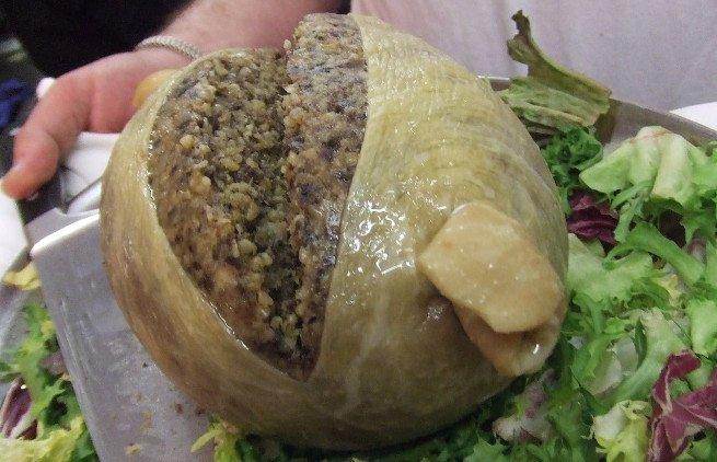 Haggis tradicional ya cocinado