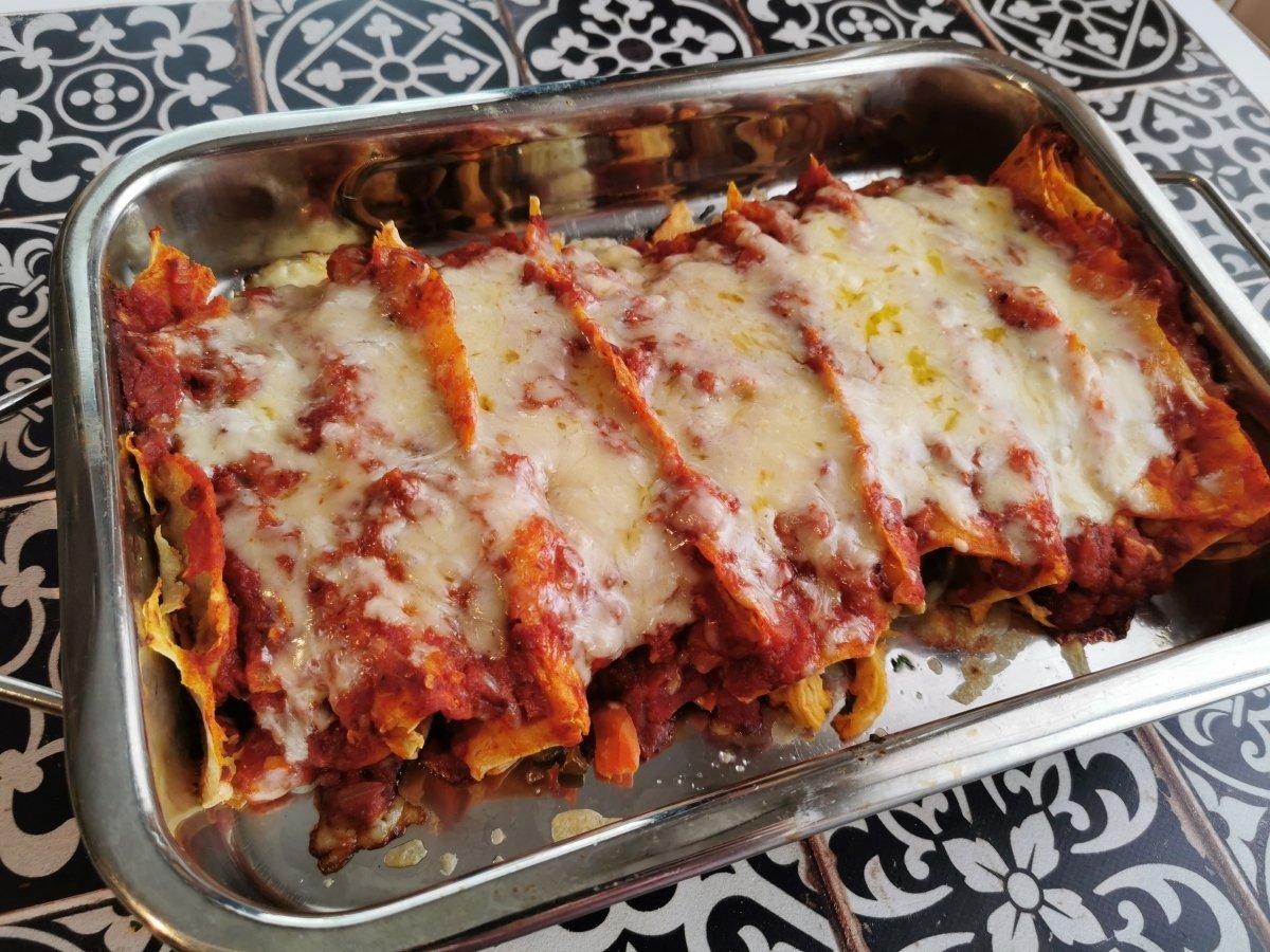 Hornear las enchiladas unos 25 minutos