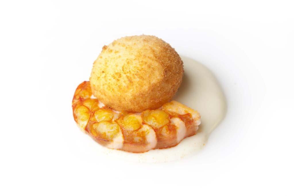 Huevo frito de otra manera del restaurante Maruja Limón