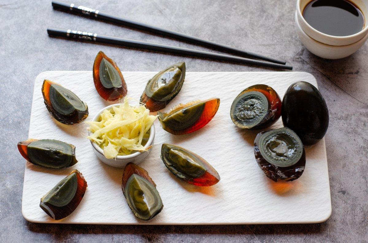 Huevos chinos de dragrón