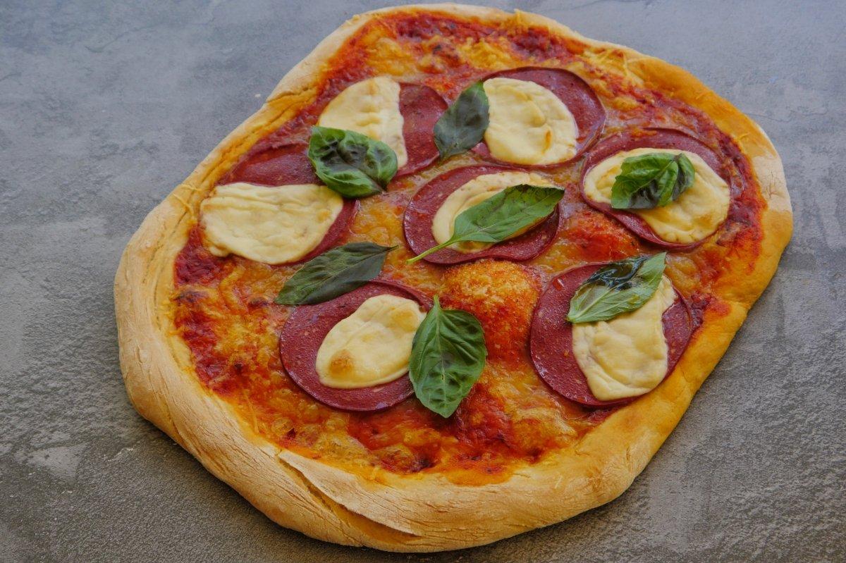 Imagen de la pizza vegana