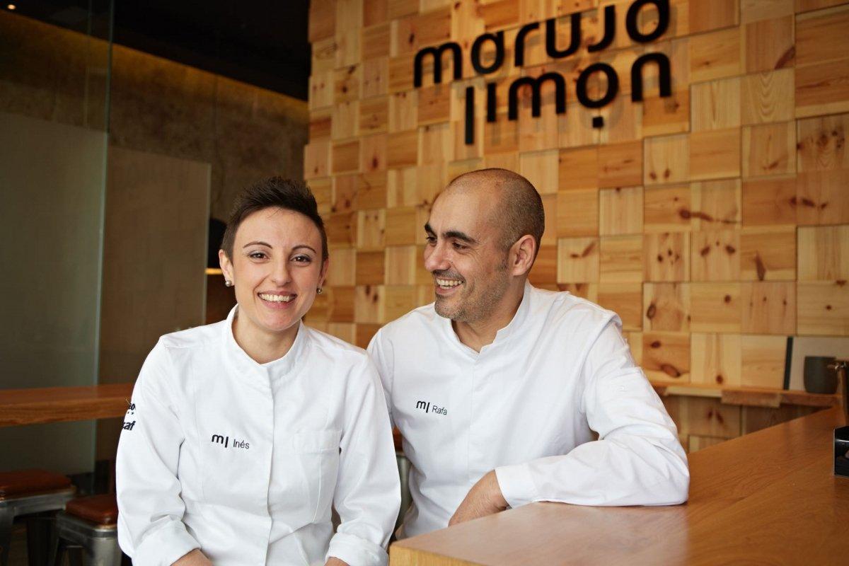 Inés Abril y Rafa Centeno en el restaurante Maruja Limón