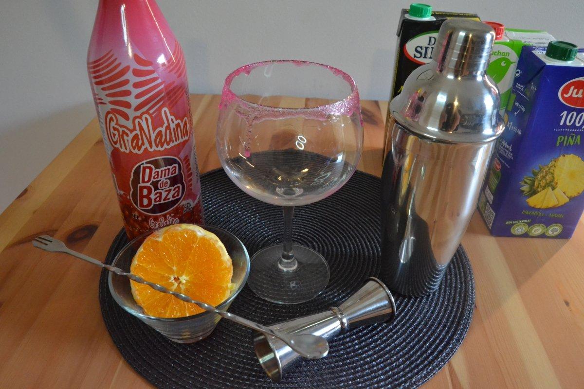 Ingredientes de cóctel San Francisco