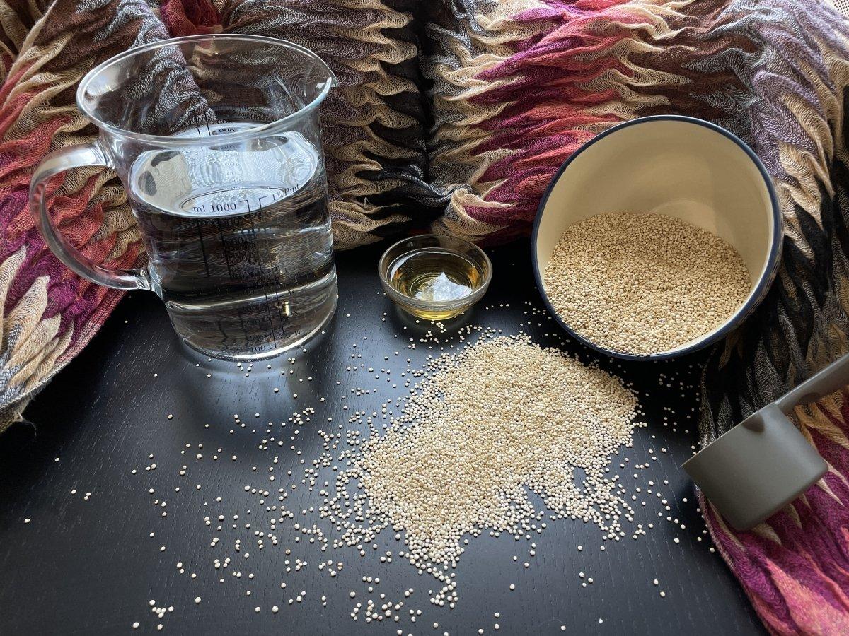 Ingredientes de la leche de quinoa