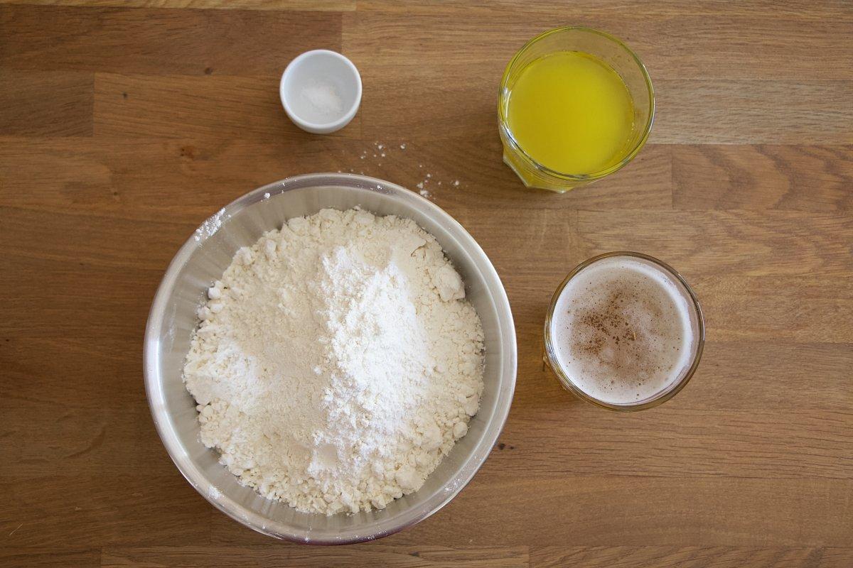 Ingredientes de la masa de empanada