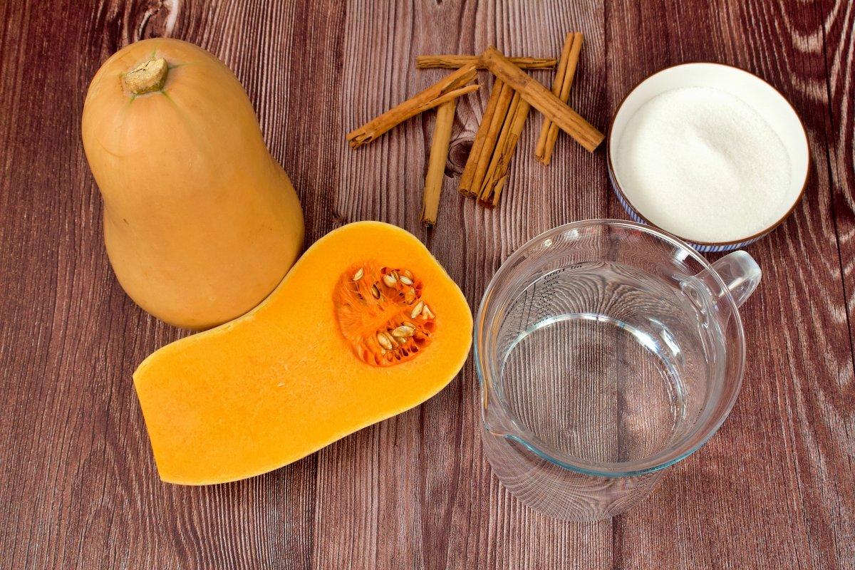 Ingredientes de la mermelada de calabaza