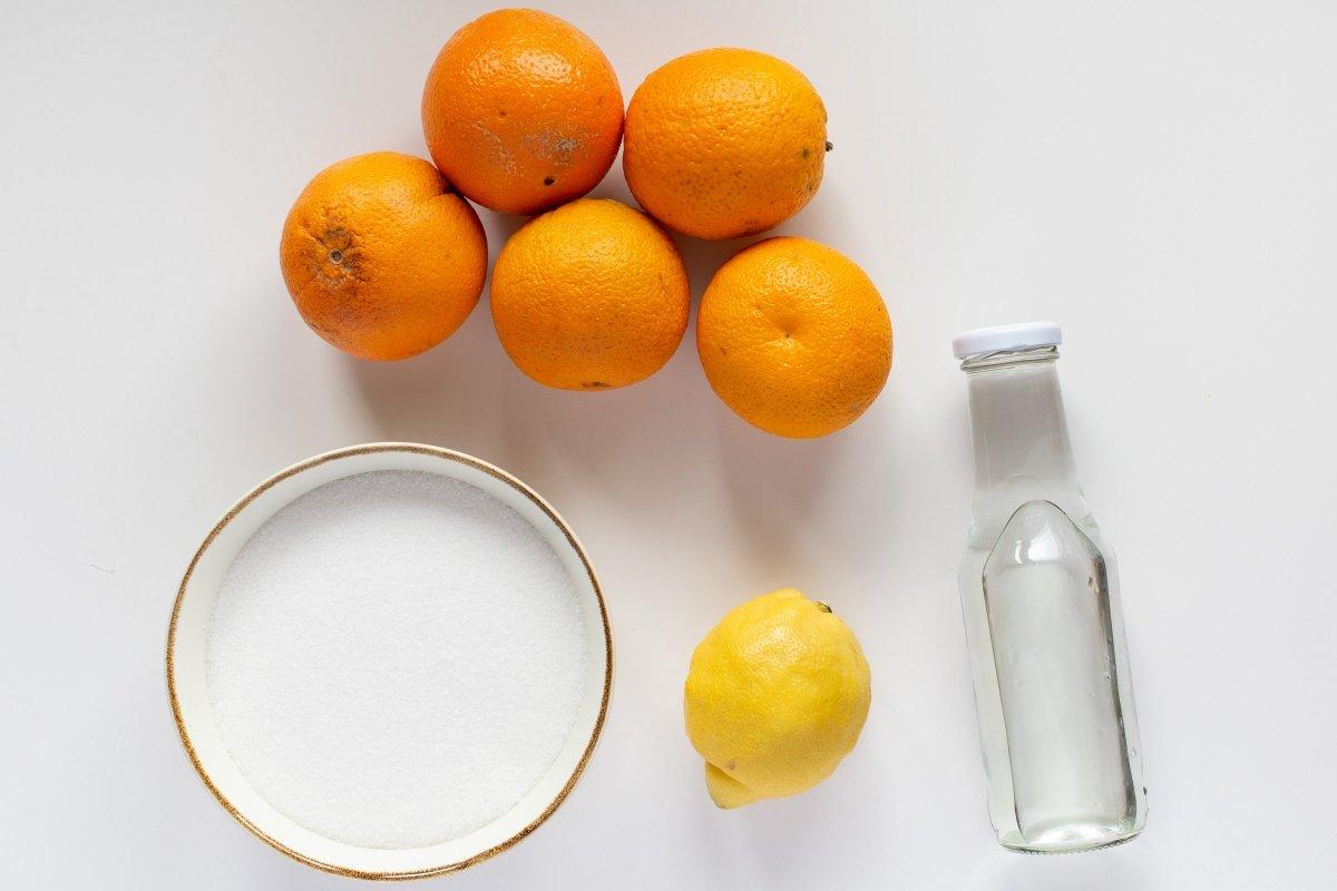 Ingredientes de la mermelada de naranja