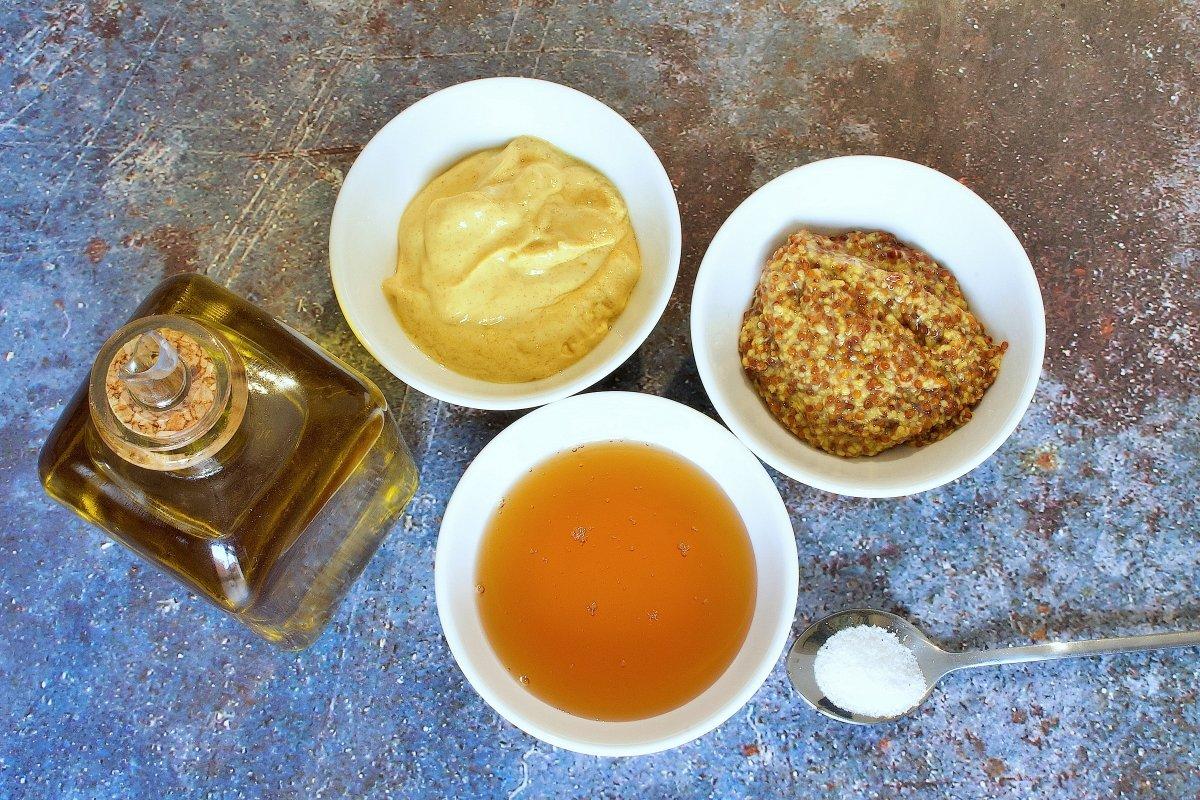 Ingredientes de la salsa de mostaza