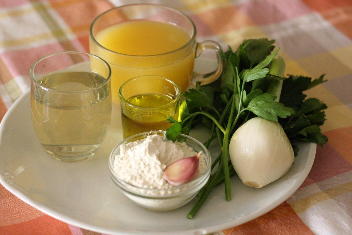 Ingredientes de la salsa verde